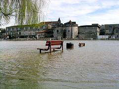Inondation d'un village